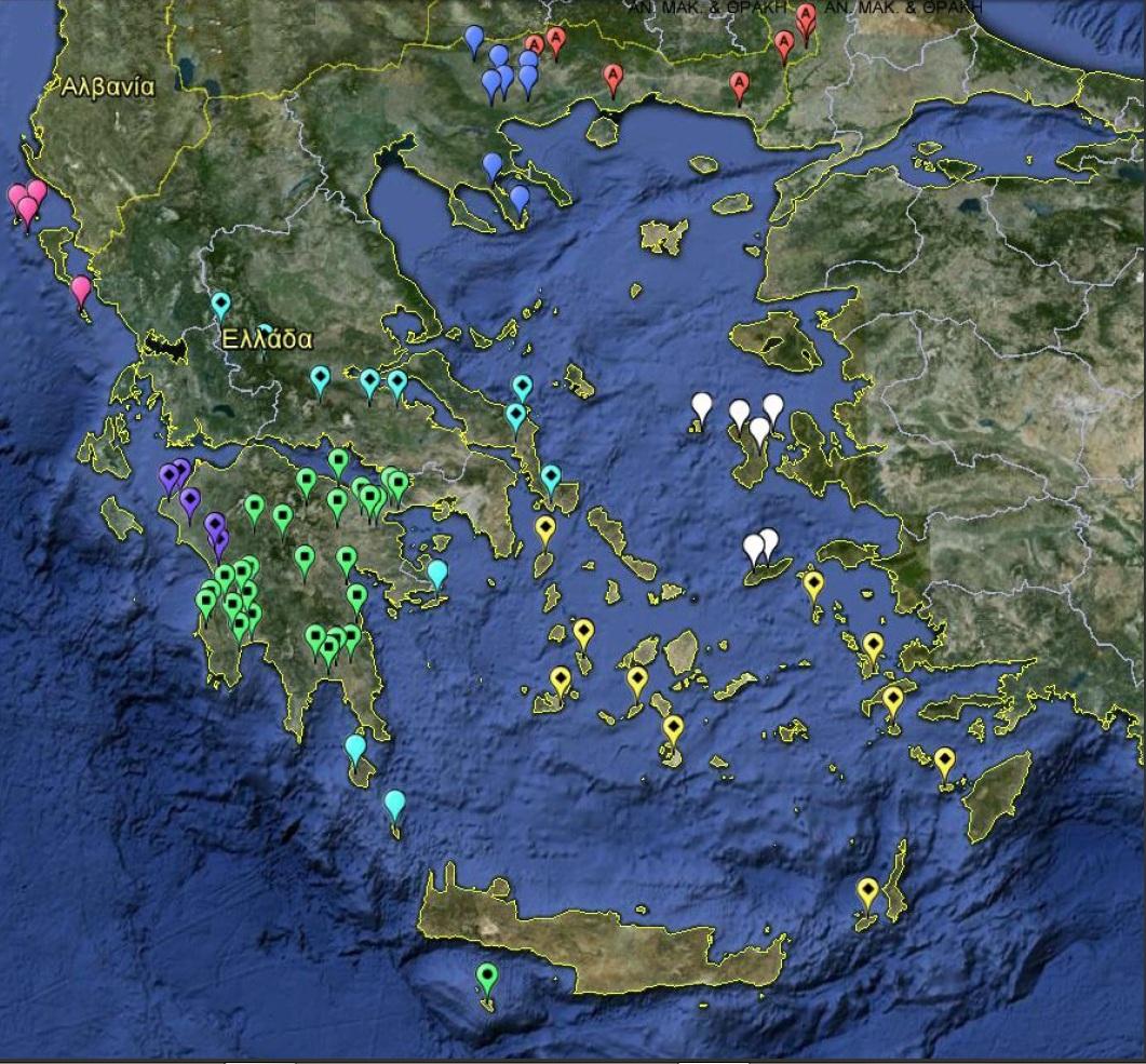 Χάρτης ενεργών ΧΑΔΑ Φεβρουάριος 2013