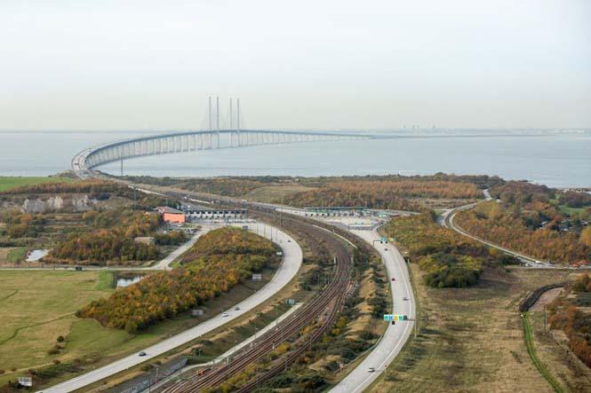 tilestwra.com   Αυτή η καταπληκτική γέφυρα μετατρέπεται σε τούνελ και συνδέει την Δανία με την Σουηδία!