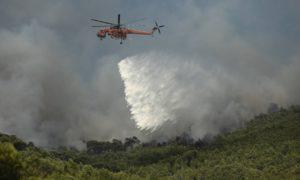 Φωτιά στο Λουτράκι - Επίσημη ενημέρωση από τον Δήμο Λουτρακίου Περαχώρας Αγίων Θεοδώρων