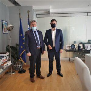 Συνάντηση του Δημάρχου Κορινθίων Β.Νανόπουλου με τον Υπουργό Τουρισμού Χ.Θεοχάρη