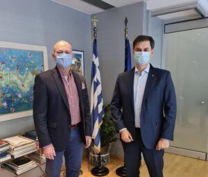 Συνάντηση του Δημάρχου Γιώργου Γκιώνη με τον Υπουργό Τουρισμού Χάρη Θεοχάρη